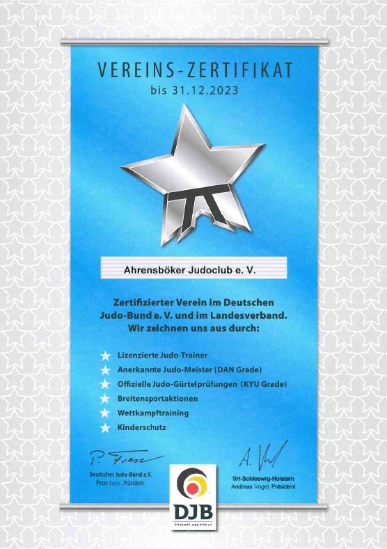 DJB-Vereins-Zertifikat (2020 - 2023)